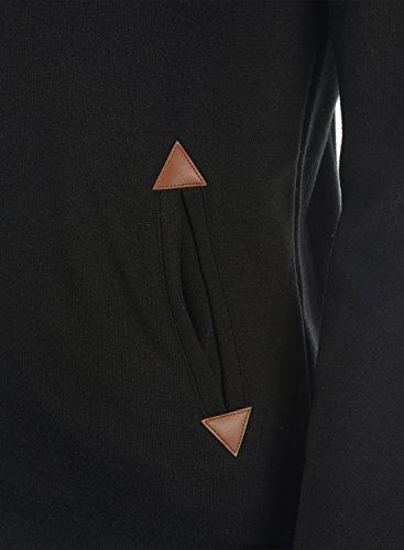 Maglione Cappuccio Donna Pullover Hood Vicky Pile E Con Desires D'orsacchiotto 9000 Fodera Black Felpa Da 4vqXxnS