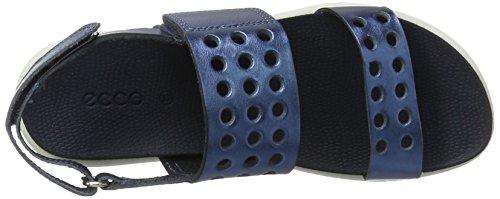 Ecco Mädchen Fay Offene Sandalen mit Keilabsatz Blau (2086DENIM BLUE)