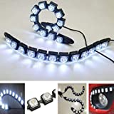 FidgetFidget Car Light Flexible Daytime Running Driving Daylight Fog Light Lamp 2x 12 LED DRL