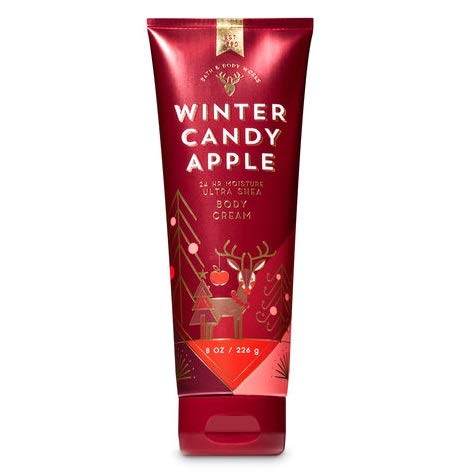 Bath and Body Works, Signature Collection Ultra Shea Body Cream, Winter Candy Apple, 8 Ounces (Best Hand Cream For Winter)