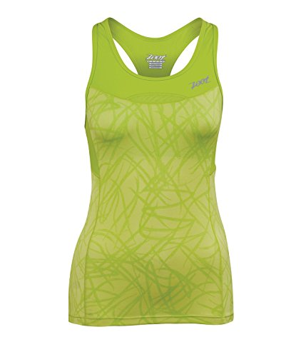 Zoot Sports Women's Performance Tri Racerback, Small, Honey Dew Static