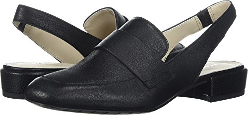 Leather Shoes Slingback (Kenneth Cole REACTION Women's Bavi Menswear Inspired Slingback Loafer Flat, Black, 7.5 M US)