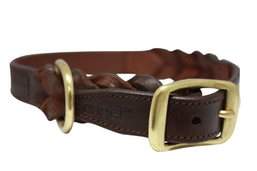 Leather Braided Dog Collar, 22