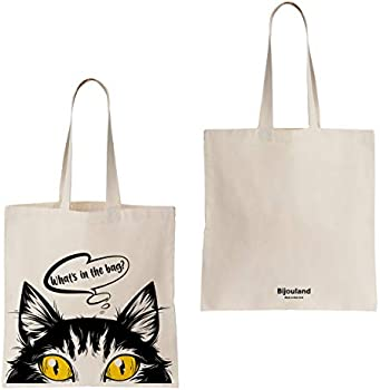 Cute Cat Tote Bag-Animal Lover Tote Bag-Funny Tote Bag-Cat Tote Bag-Gifts For Cat Lovers-Gifts For Her-Gifts For Him-Shopping Bag