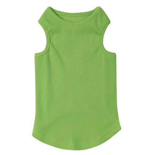 Casual Canine Cotton Basic Ribbed Dog Tank Top, Medium, 16-Inch, Parrot Green, My Pet Supplies