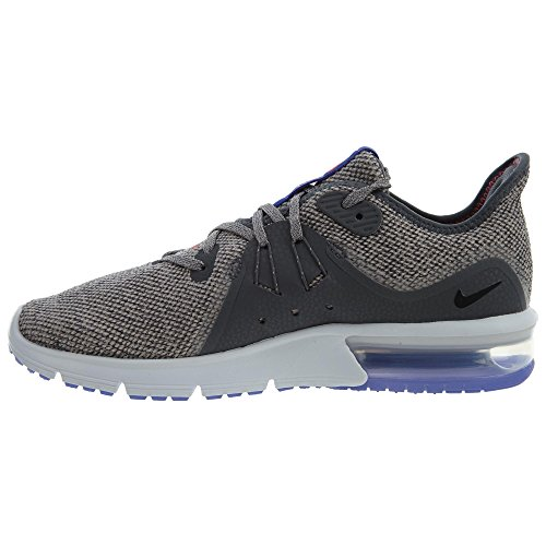 Nike Womens Air Max Sequent 3 Scarpa Da Corsa Dark Grey / Black-moon Particle