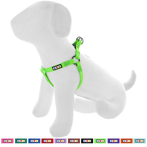 Pawtitas Solid Color Step in Dog Harness or Vest Harness Dog Training Walking of Your Puppy Harness Medium Dog Harness Green Dog Harness