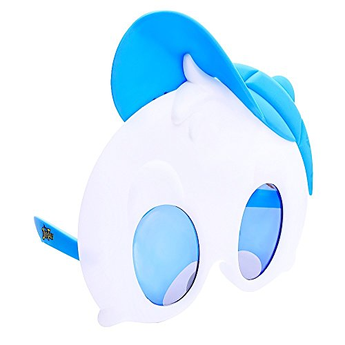 Sun-Staches Costume Sunglasses Duck Tales Blue Dewey Party Favors UV400 -