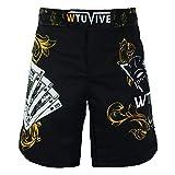 WTUVIVE MMA Shorts for Men Print Muay Thai Shorts