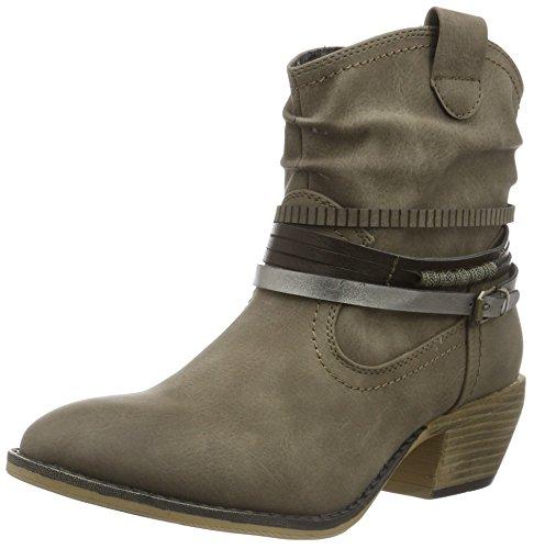 Jane Klain Damen Stiefelette Cowboy Stiefel Beige (280 STONE)