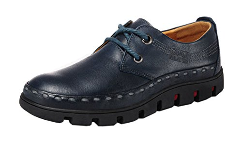 Passionow Christmas Mens 2015 New British Style Low Top Lace-up Casual Shoes(7 D(M)US, Blue)