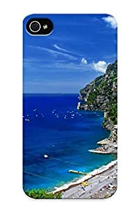 Design High Impact Dirt/shock Proof Case Cover For Iphone 4/4s (greece Island Cliff Mountain Hill Plants Trees Sky Cloud Tropical Beaches Ocean Sea Waves Boats Vehicles People Architecture Cities Town Houses Resort )
