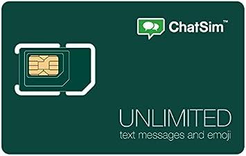 ChatSim Unlimited - Tarjeta SIM Internacional para chatear con Whatsapp y Otras ChatApp en más de 150 países: Amazon.es: Electrónica