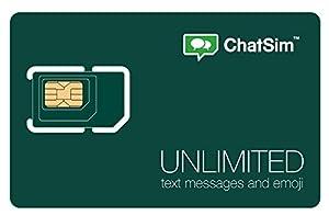 Amazon.com: ChatSim Unlimited - Global SIM card to chat