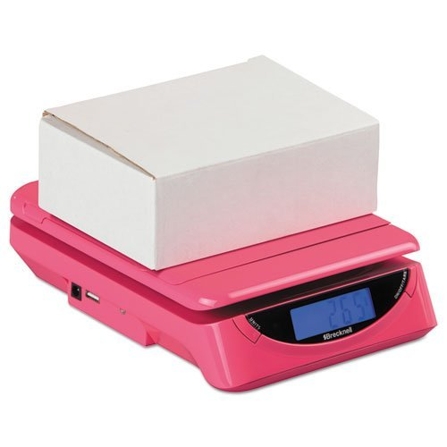 (Salter Brecknell PS25PINK 25 lbs. Electronic Postal Shipping Scale, Pink)