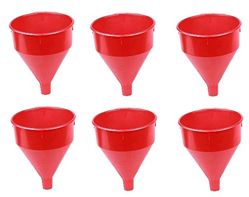 WirthCo 32006 Funnel King Red Safety Funnel with Screen - 6 Quart Capacity (6)