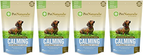 (Pet Naturals Calming for Dogs, Natural Behavior Support Formula, 30 Bite Sized Chews bundled with Reusable Travel Pill Pouch, , 4 Pack)