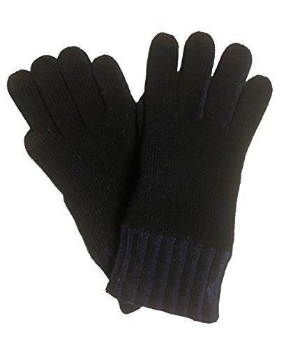- Polo Ralph Lauren Mens Wool/Cotton Tech Gloves One Size Black/Dark Blue