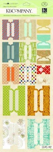 - Wilton K&Company Stickers, Tim Coffey Travel Die-Cut Divider Tab (30-681767)