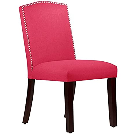 Skyline Furniture 20u0026quot; Arched Dining Chair In Linen Fuschia