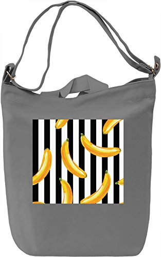 Bananas Print Borsa Giornaliera Canvas Canvas Day Bag| 100% Premium Cotton Canvas| DTG Printing|