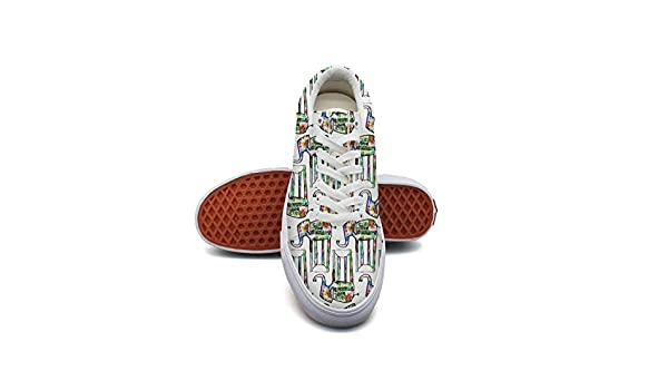 JDWESA Womens Custom Slip on Shoes lace up Shoes