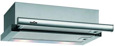 Thor TCT 62 Telescópica o extraplana Acero inoxidable 332m³/h - Campana (332 m³/h, Canalizado/Recirculación, 65 dB, 56 dB, Telescópica o extraplana, Acero inoxidable): Amazon.es: Hogar