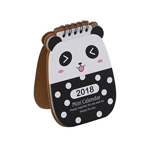 Price comparison product image Fheaven Desktop Calendars-2018 Cute Cartoon Animal Desk Desktop Calendar Flip Stand Table Office Planner (C)