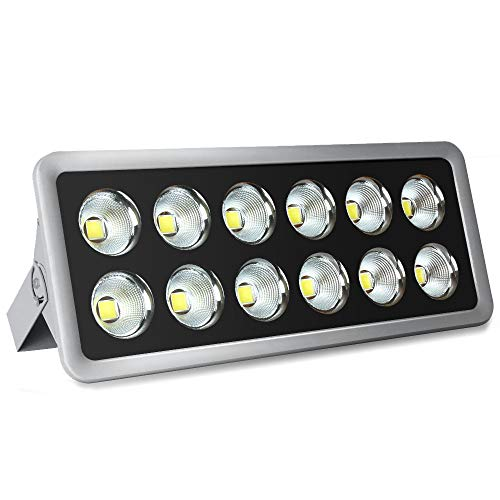 LED Flood Light, Morsen 600W Super Bright Outdoor LED Floodlight 6000K Cool White Waterproof IP65 Wall Lights for Landscape, Garden Yard, Playground