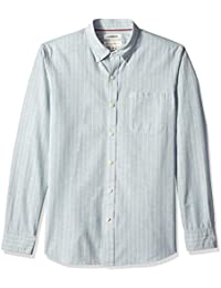 Men's Standard-fit Long-Sleeve Stripe Chambray Shirt
