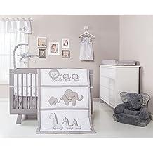 Trend Lab Safari Chevron 3-Piece Crib Bedding Set, Black/White