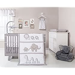 Trend Lab Safari Chevron Boy's 3 Piece Crib Bedding Set, Black/White