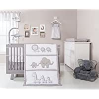 Trend Lab Safari Chevron 3 Piece Crib Bedding Set, Black/White