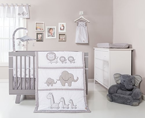 vron 3 Piece Crib Bedding Set, Black/White ()