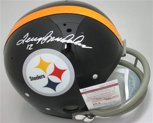 Bradshaw Autographs - Terry Bradshaw Pittsburgh Steelers Signed Autograph TK 2 Bar Throwback Full Size Helmet Bradshaw Hologram JSA Witnessed Certified