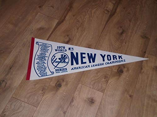 VINTAGE 1978 NEW YORK YANKEES AL CHAMPS FULL SIZE PENNANT WITH NAMES