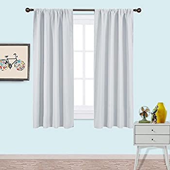 NICETOWN White Bedroom Curtain Panels   Window Treatment Thermal Insulated  Rod Pocket Room Darkenining Curtains / Drapes For Bedroom (2 Panels,42 By  63 ...
