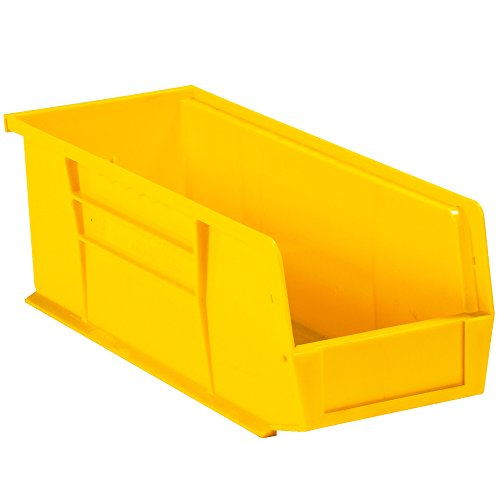 - Aviditi BINP1144Y Plastic Stack and Hang Bin Boxes, 10 7/8