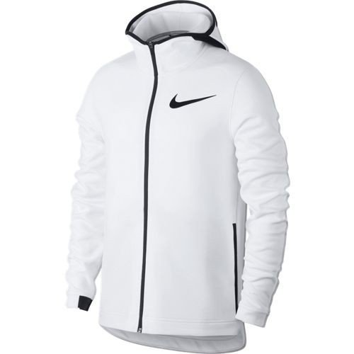 (Nike Men's Dry Showtime Full Zip Basketball Hoodie (White/White, XL))