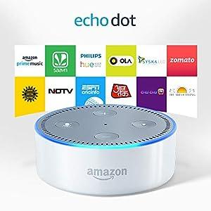 Certified Refurbished Echo Dot (2nd Gen) - Smart speaker with Alexa (White)