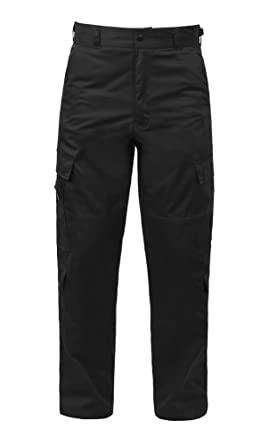 Amazon.com  Large Mens Midnight Navy Poly Cotton Twill Emt Cargo ... 302481cd06a
