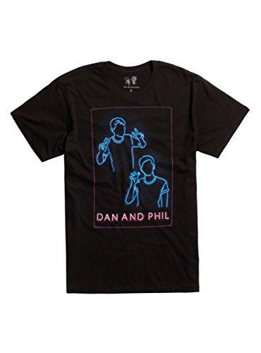 Hot Topic Dan And Phil Neon T Shirt