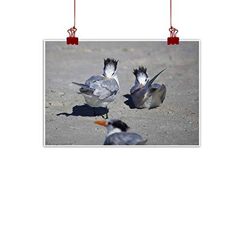 duommhome Modern Frameless Painting Bird Baths Natural Art 32