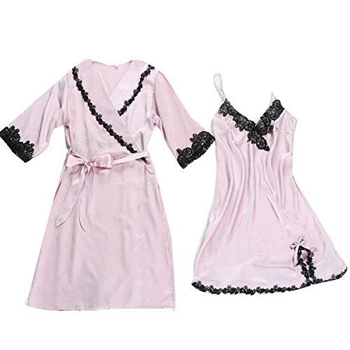 Noche Vestido Seda Elegante Ropa Suave Camisones Pijama Pijamas Dormir Transpirable Moda De Betrothales Y Cómodo Ocio Casa Pink H1qdBXnq7