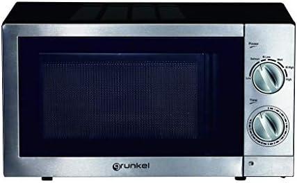 Grunkel - Microondas de 20 litros de capacidad en acero inoxidable ...