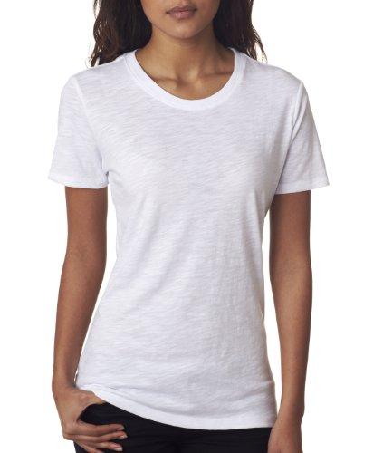 Next Level Apparel 6810 Lady The Slub Crew Neck Tee Shirt - White44; Medium