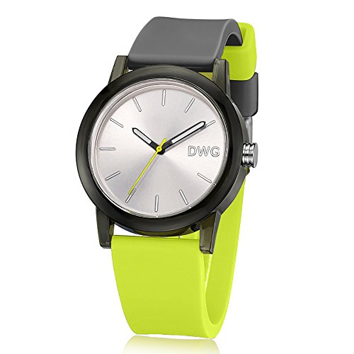 DWG Fashion Watch With Silicone Strap Waterproof Sport Watch (Mixed Color) Comfortable Wear for Men and Women ()