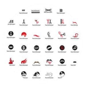 alfombrilla de ratón Conjunto de iconos de peluquería - aislado en el fondo blanco - ronda - 20cm
