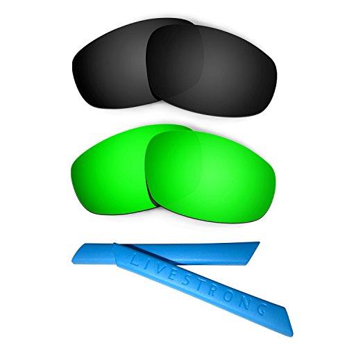 HKUCO Black/Green Polarized Replacement Lenses plus Blue ...