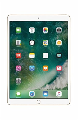 2017 New IPad Pro Bundle (4 Items): Apple 10.5 inch iPad Pro with Wi-Fi 512 GB Gold, Leather Sleeve Saddle Brown, Apple Pencil and Mytrix USB Apple Lightning Cable by uShopMall (Image #1)